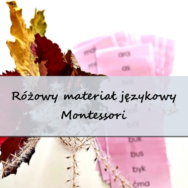 różowy materiał językowy Montessori - ruchomyalfabet.pl